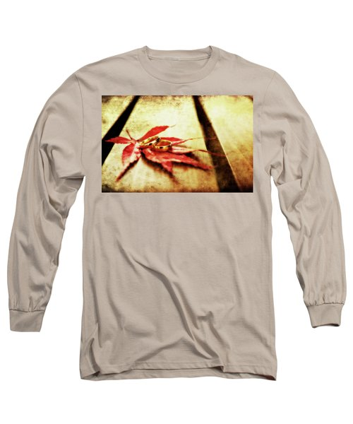 Wedding Rings On Red Long Sleeve T-Shirt