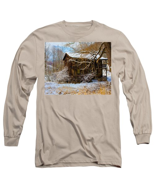 West Virginia Winter Long Sleeve T-Shirt by Ronald Lutz