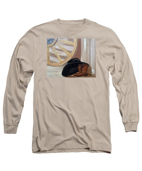 Western Art Work For Luke Long Sleeve T-Shirt by Margaret Harmon