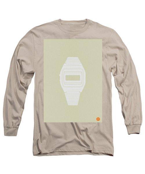 White Electronic Watch Long Sleeve T-Shirt