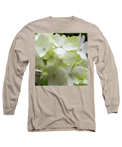 Long Sleeve T-Shirt featuring the photograph White Hydrangea by Barbara Moignard