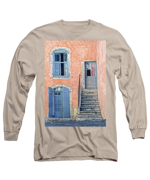 Long Sleeve T-Shirt featuring the photograph Window And Doors Provence France by Dave Mills