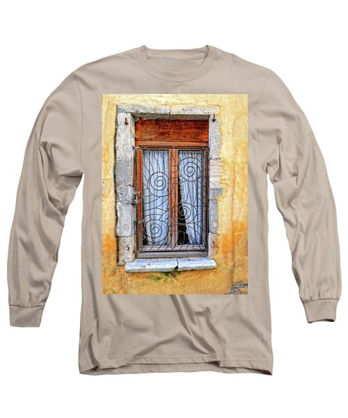 Long Sleeve T-Shirt featuring the photograph Window Provence France by Dave Mills