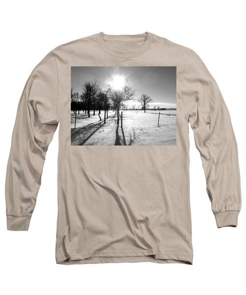 Winter Shadows Long Sleeve T-Shirt