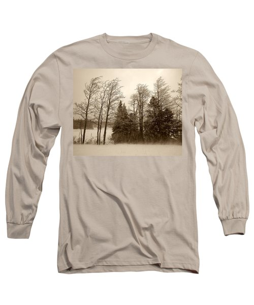 Long Sleeve T-Shirt featuring the photograph Winter Treeline by Hugh Smith
