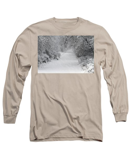 Long Sleeve T-Shirt featuring the photograph Winter's Trail by Elizabeth Winter