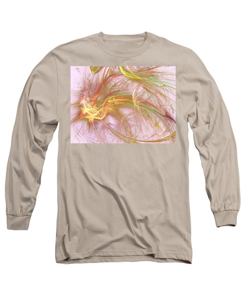Long Sleeve T-Shirt featuring the digital art Wispy Willow by Kim Sy Ok