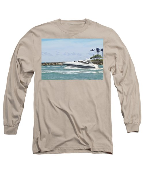 Yacht In Inlet Long Sleeve T-Shirt