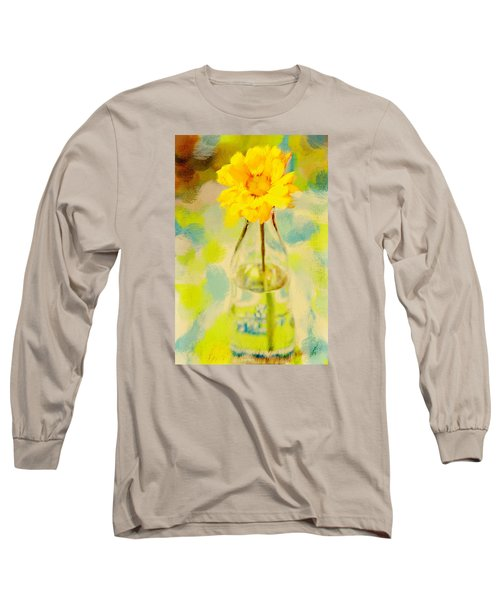 Yellow Flower Long Sleeve T-Shirt by Toni Hopper