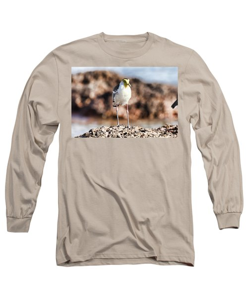 Yellow Mask Long Sleeve T-Shirt by Douglas Barnard