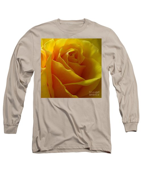 Yellow Rose Of Texas Long Sleeve T-Shirt by Sandra Phryce-Jones