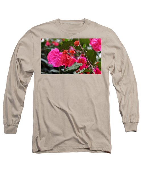 Bougainvillea In The Rain Long Sleeve T-Shirt