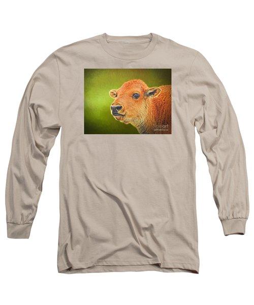 Buffalo Calf Long Sleeve T-Shirt by Suzanne Handel