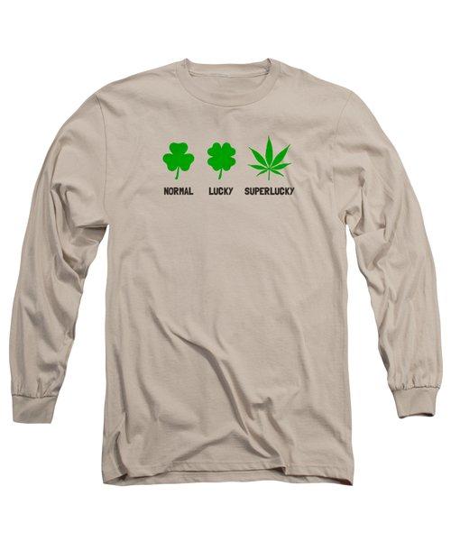 Cannabis   Hemp  420   Marijuana  Pattern Long Sleeve T-Shirt