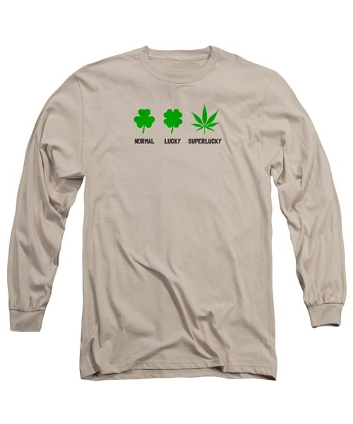 Cannabis   Hemp  420   Marijuana  Pattern Long Sleeve T-Shirt