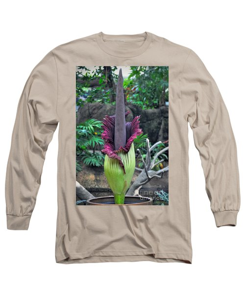 Corpse Flower Long Sleeve T-Shirt by Savannah Gibbs