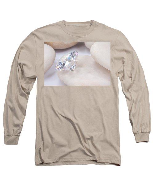 Diamond On White Stone Long Sleeve T-Shirt