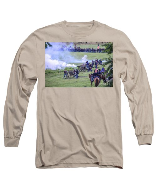 Gettysburg Union Artillery And Infantry 7439c Long Sleeve T-Shirt
