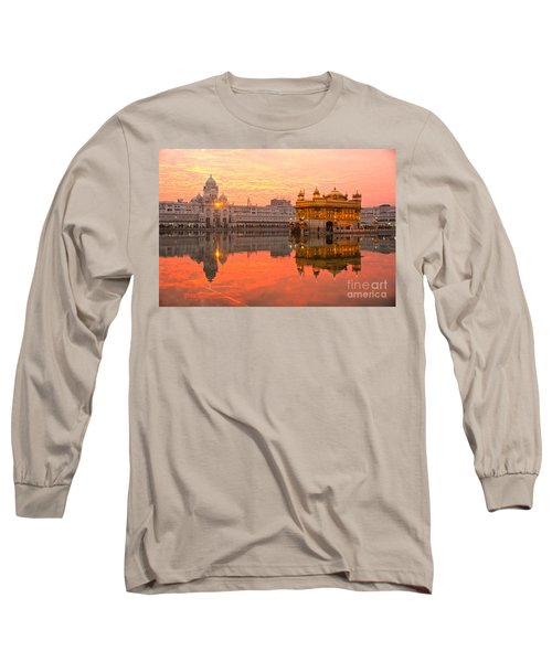 Golden Temple Long Sleeve T-Shirt by Luciano Mortula