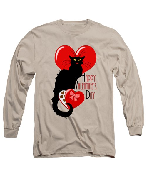 Happy Valentine's Day Le Chat Noir Long Sleeve T-Shirt