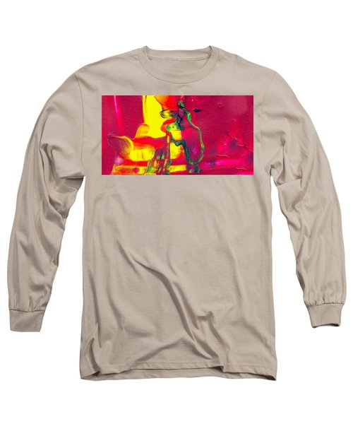 Home Alone - Abstract Colorful Mixed Media Painting Long Sleeve T-Shirt