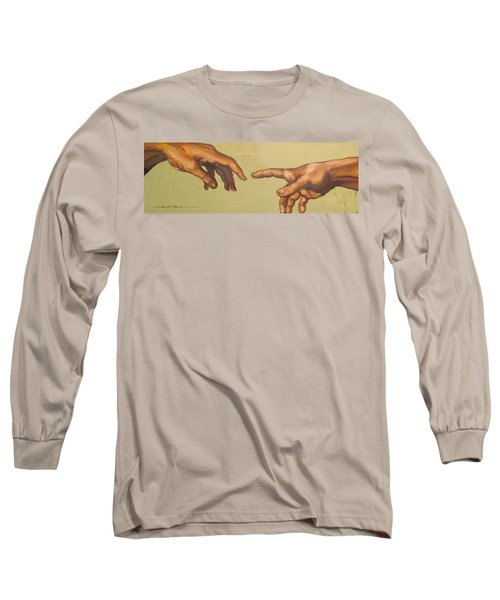 Michelangelos Creation Of Adam 1510 Long Sleeve T-Shirt