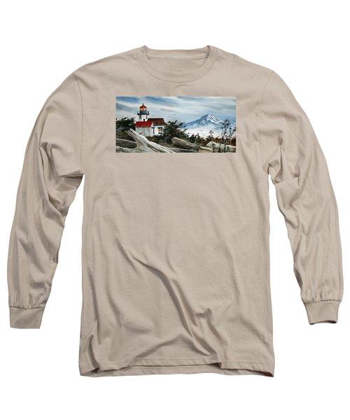 Point Robinson Lighthouse And Mt. Rainier Long Sleeve T-Shirt