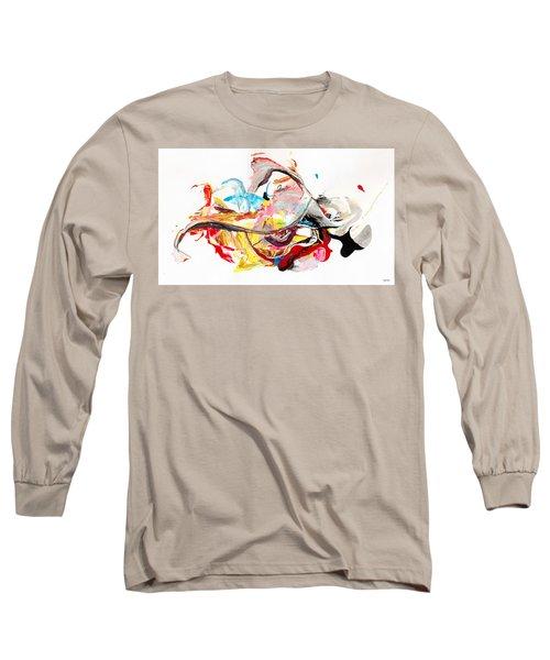 Princess  - Abstract Colorful Mixed Media Painting Long Sleeve T-Shirt