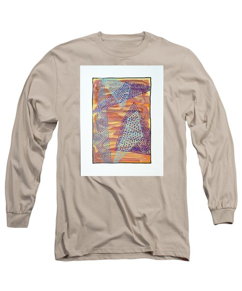 Long Sleeve T-Shirt featuring the painting 01326 by AnneKarin Glass