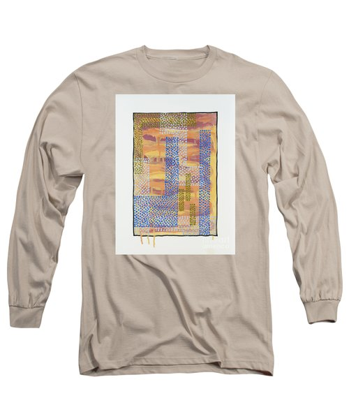 Long Sleeve T-Shirt featuring the painting 01327 by AnneKarin Glass