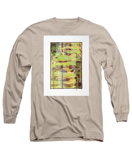 Long Sleeve T-Shirt featuring the painting 01329 Slip by AnneKarin Glass