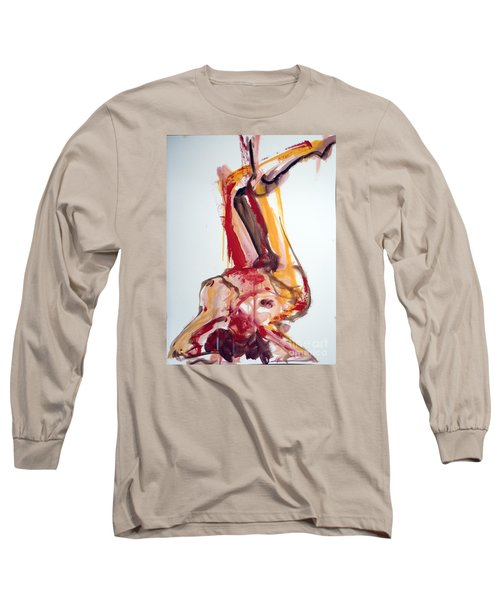 Long Sleeve T-Shirt featuring the painting 04528 Southern Comfort by AnneKarin Glass