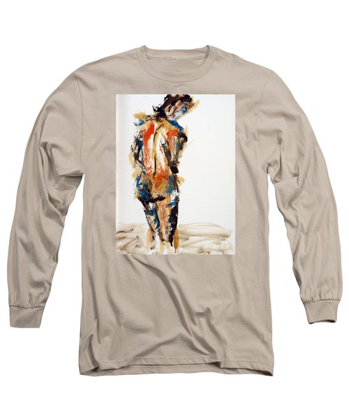 Long Sleeve T-Shirt featuring the painting 04855 No Regrets by AnneKarin Glass