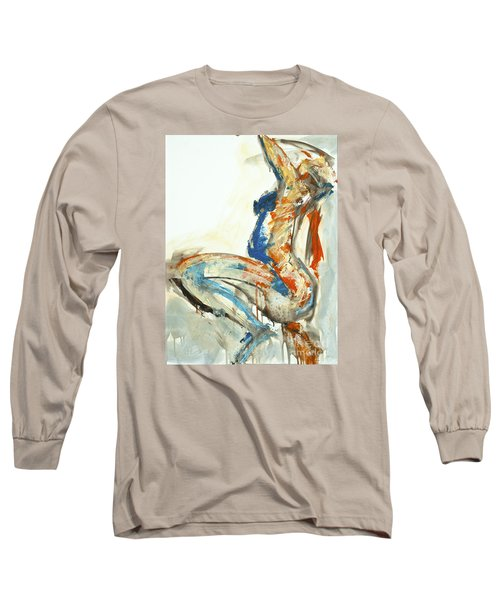 Long Sleeve T-Shirt featuring the painting 04958 Suddenly by AnneKarin Glass