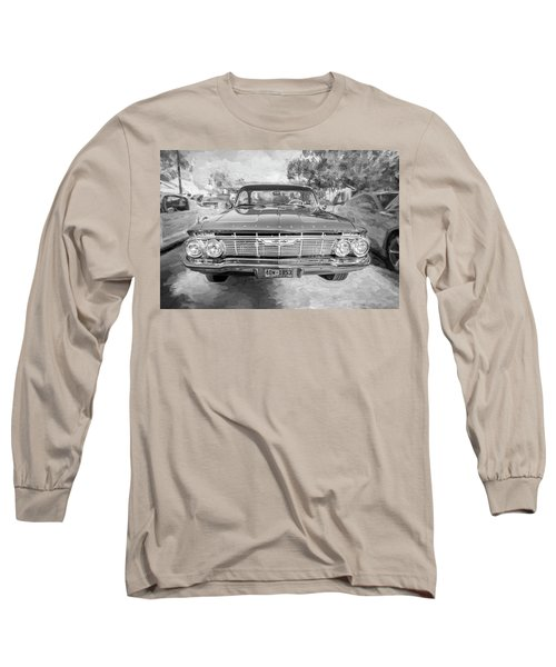 Long Sleeve T-Shirt featuring the photograph 1961 Chevrolet Impala Ss Bw by Rich Franco