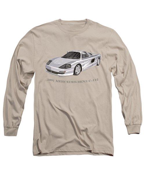 1991 Mercedes Benz C 112 Long Sleeve T-Shirt by Jack Pumphrey
