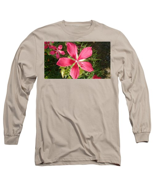 Hibiscus Coccineus Long Sleeve T-Shirt