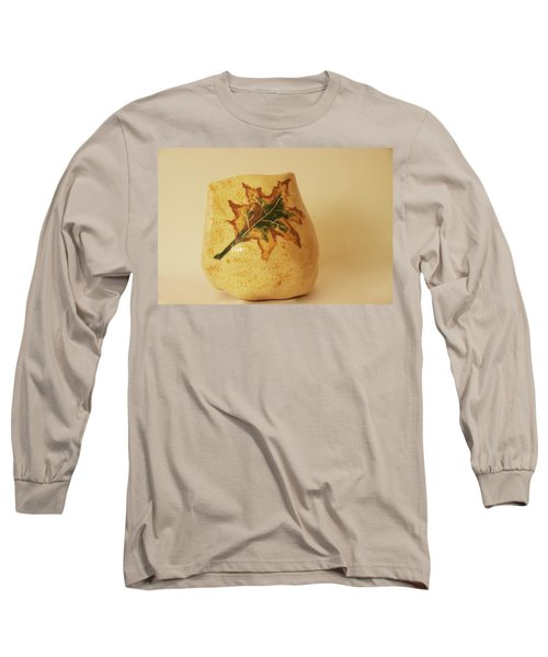 Long Sleeve T-Shirt featuring the photograph A Pot On A Leaf by Itzhak Richter