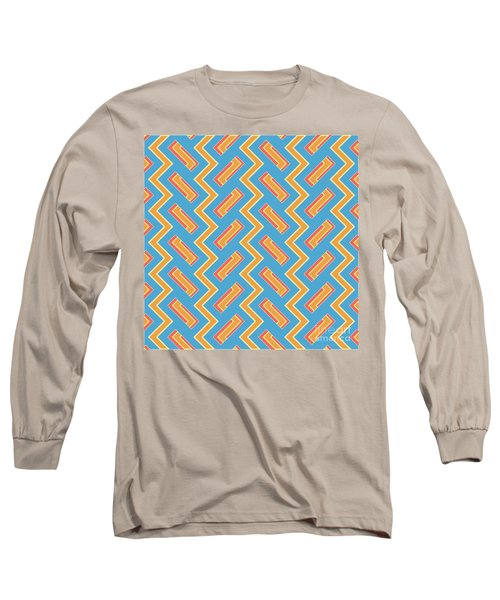 Abstract Orange, White And Red Pattern For Home Decoration Long Sleeve T-Shirt