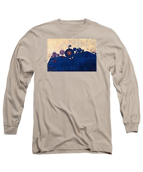 Abstract Painting - Champagne Long Sleeve T-Shirt