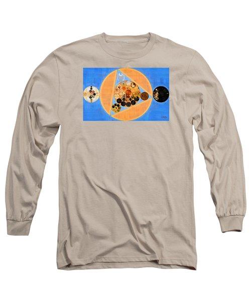 Long Sleeve T-Shirt featuring the digital art Abstract Painting - Sandy Brown by Vitaliy Gladkiy