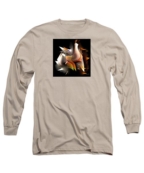 Abstract Peacock Long Sleeve T-Shirt