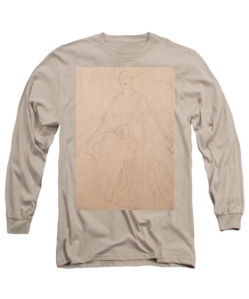 Adele Bloch Bauer Long Sleeve T-Shirt by Gustav Klimt