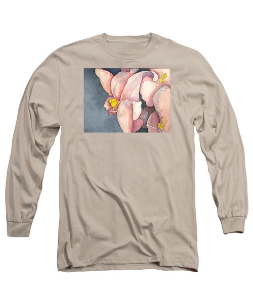Long Sleeve T-Shirt featuring the painting African Violet by Lynda Lehmann
