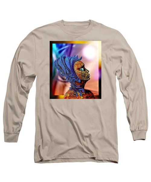 Alien Portrait Long Sleeve T-Shirt by Hartmut Jager