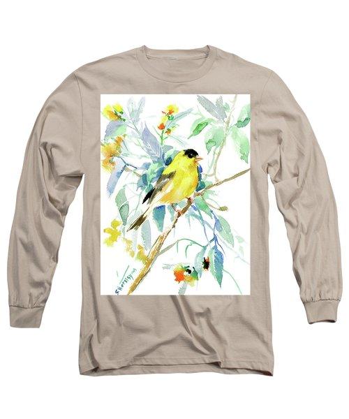 American Goldfinch Long Sleeve T-Shirt by Suren Nersisyan
