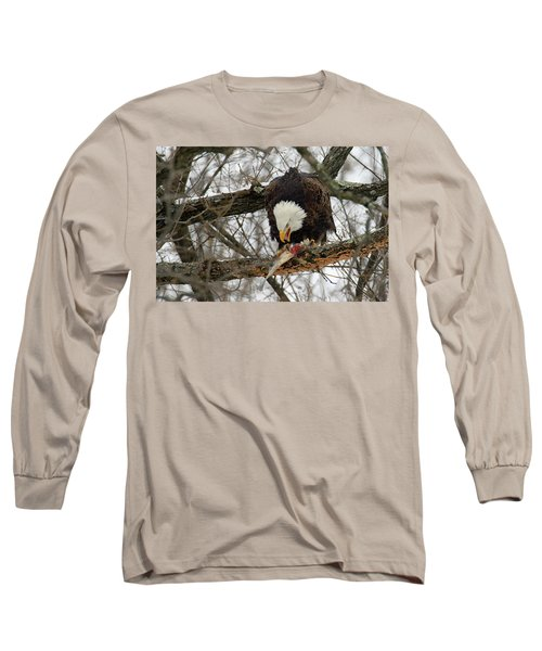 An Eagles Meal Long Sleeve T-Shirt by Brook Burling