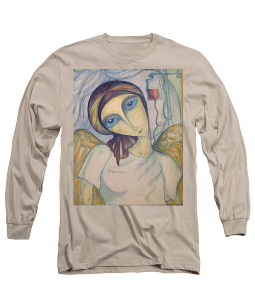 Long Sleeve T-Shirt featuring the painting Angel Of Mercy by Rae Chichilnitsky