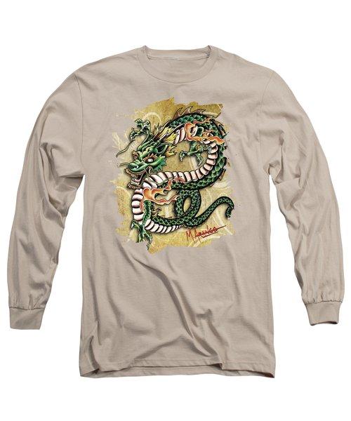 Asian Dragon Long Sleeve T-Shirt by Maria Arango