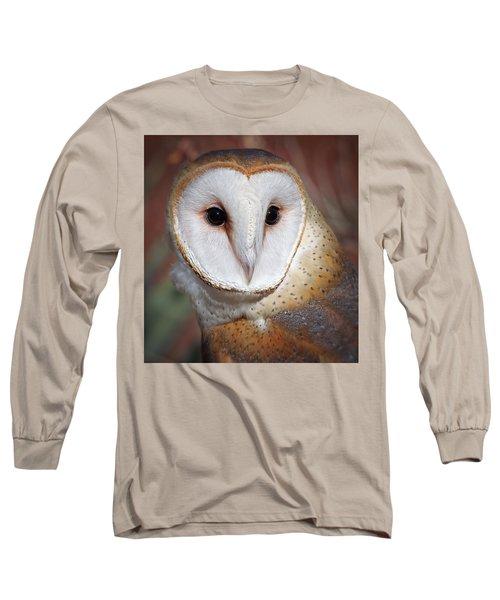 Barn Owl Long Sleeve T-Shirt by Elaine Malott